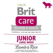 BRIT CARE JUNIOR LARGE BREED LAMB & RICE 100g, 1kg, 3kg, 12kg