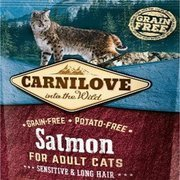 Carnilove Salmon Sensitive & Long Hair sucha karma dla kota 0,4 kg, 2 kg