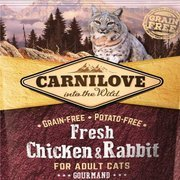 Carnilove fresh chicken & rabbit - gourmand sucha karma dla kota 0,4 kg, 2 kg