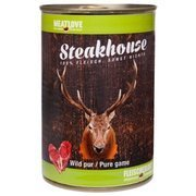 Steakhouse Pure Game karma mokra dla psa 100% dziczyzna 400 g, 800 g